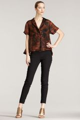 Donna Karan New York Silk Gazar Shirt - Lyst