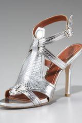 Elizabeth And James Snakeskin Sandal - Lyst