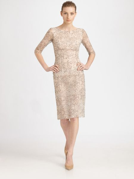 Erdem Lace Dress in Pink (cream) - Lyst