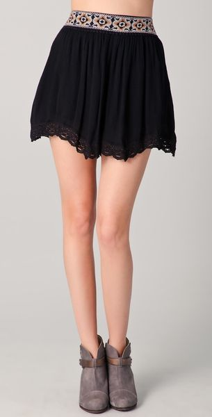 Free People Daisy Shorts in Black - Lyst