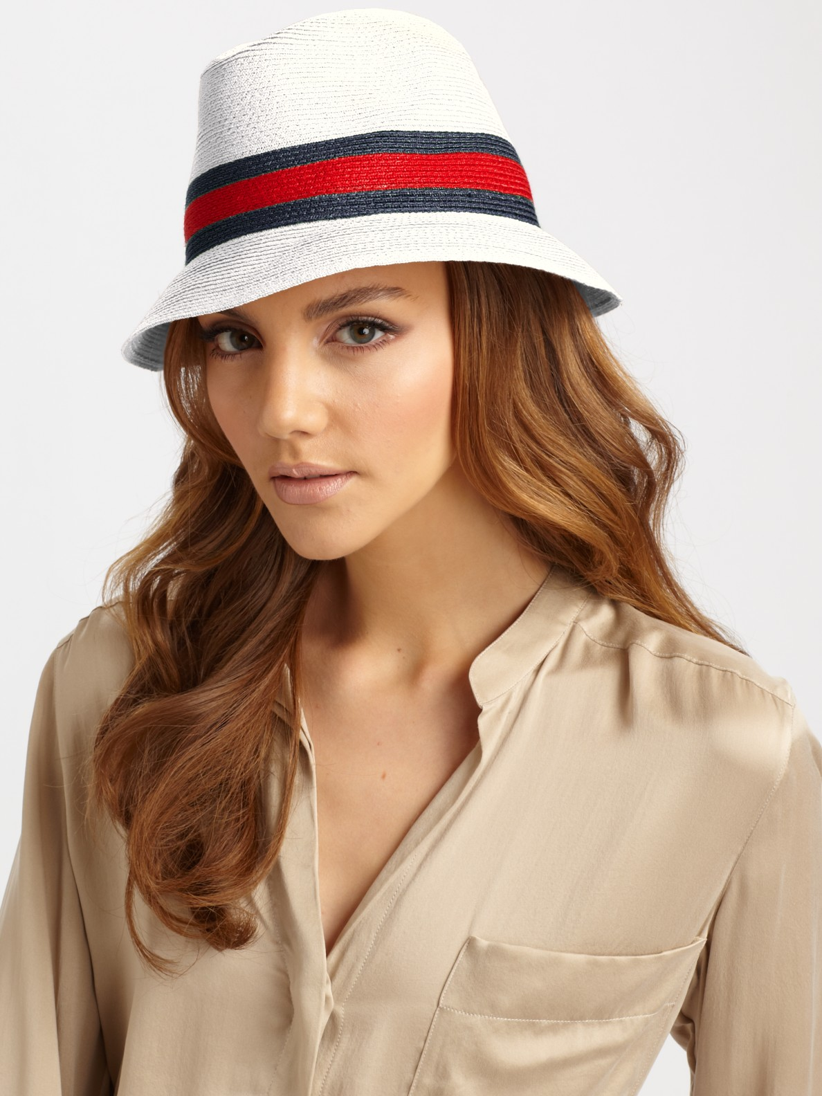 f6192a09731 Lyst - Gucci Trilby Hat in Natural