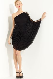 Black  Shoulder Dress on Givenchy Black Asymmetric One Shoulder Dress