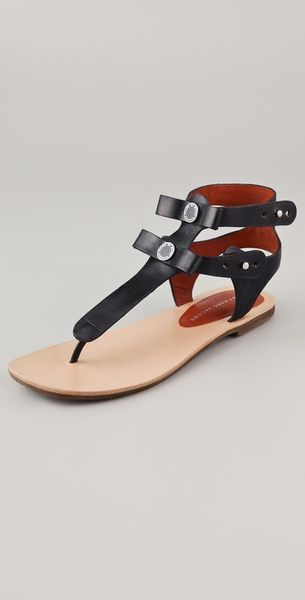 Marc By Marc Jacobs Flat Thong Sandals - Lyst