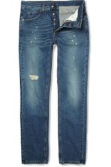 McQ by Alexander McQueen Distressed Straight-leg Jeans - Lyst