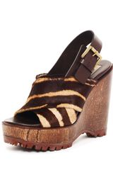 Michael Kors Calf Hair Platform Wedge - Lyst
