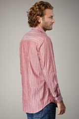 Missoni Zigzagstripe Sport Shirt in Red for Men - Lyst