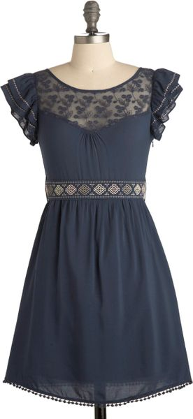 Modcloth Indie Darling Dress in Blue (azure) - Lyst