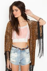Nasty Gal Lace Crop Top - Blush - Lyst