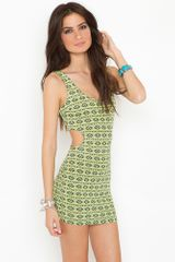 Nasty Gal Mesa Cutout Dress  Lime in Gray - Lyst