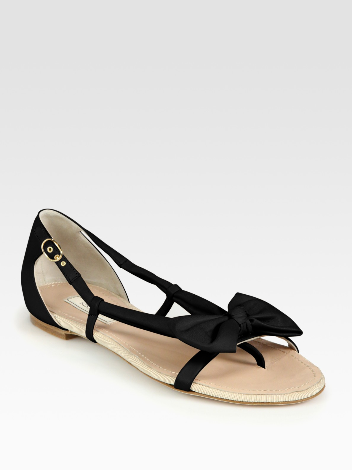 outlet top quality discount looking for Nina Ricci Bow Slide Sandals sale online shopping o4NyH