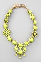 Oscar de la Renta Chartreuse Resin Necklace