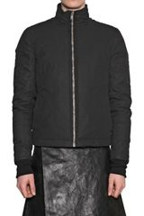 Rick Owens Waxed Cotton Duvet Sport Jacket - Lyst