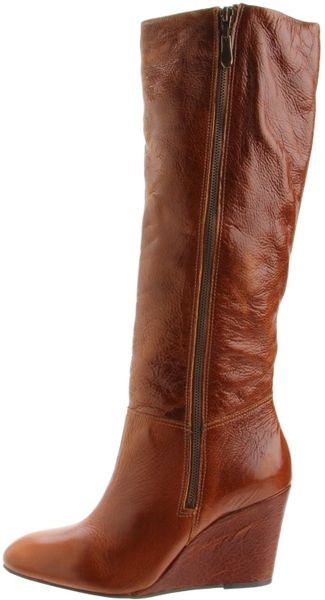 steven by steve madden meteour leather wedge boots in