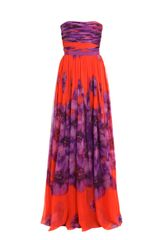 Giambattista Valli Silk-chiffon Long Dress - Lyst