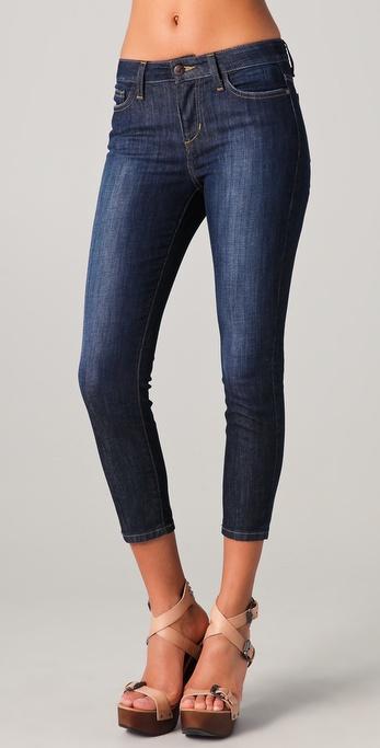 Joe's jeans Cropped Skinny Jeans in Blue | Lyst