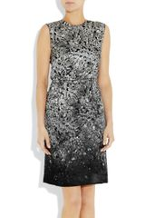 Lanvin Printed SilkBlend Satin Dress in Gray (multicolored) - Lyst