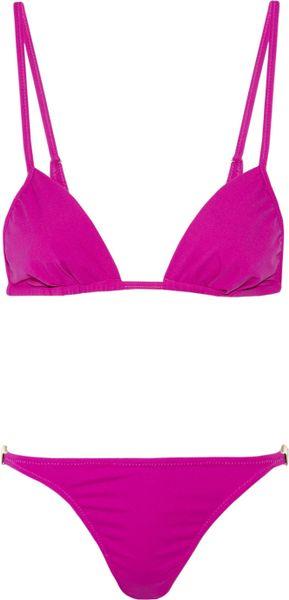 Melissa Odabash Odabash & Macdonald Pat C Triangle Bikini in Pink (gold)