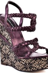 Michael Antonio Studio Geena - Purple Metallic Pu - Lyst