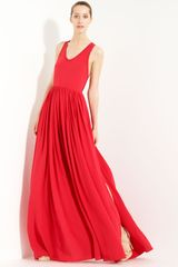 Yigal Azrouel Silk Crepe Maxi Dress - Lyst