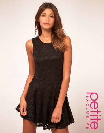 ASOS Collection Asos Petite Exclusive Lace Skater Dress - Lyst