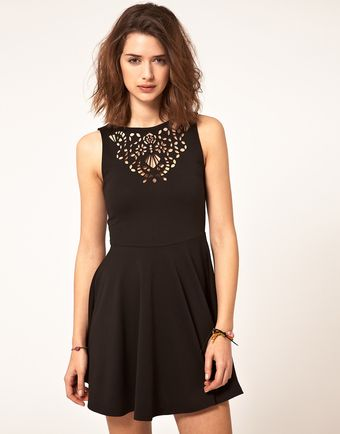 ASOS Collection Asos Skater Dress with Laser Cut - Lyst