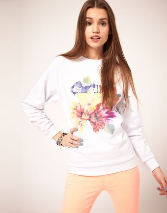 ASOS Collection Asos Jumper with 3d Flower - Lyst