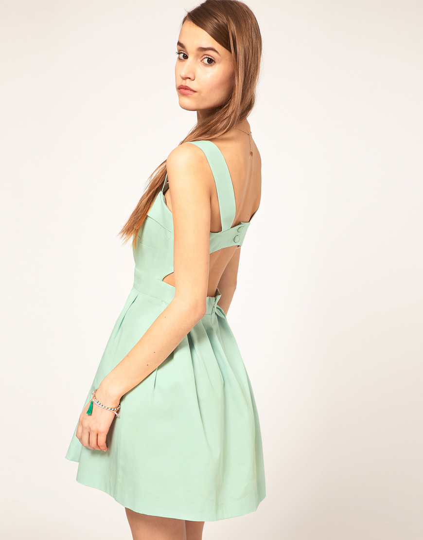 skater dress with cutout back | Gommap Blog