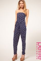 ASOS Collection Asos Petite Exclusive Anchor Print Jumpsuit - Lyst
