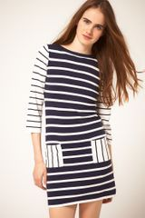 ASOS Collection Striped Knitted Tunic - Lyst