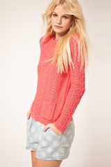 ASOS Collection Asos Aran Jumper with Pockets - Lyst