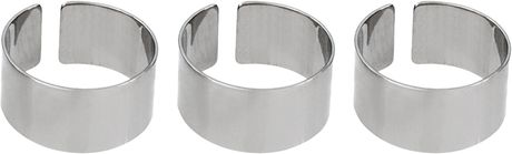 Asos Collection Asos Multi Plain Band Rings in Silver (rhodium) - Lyst