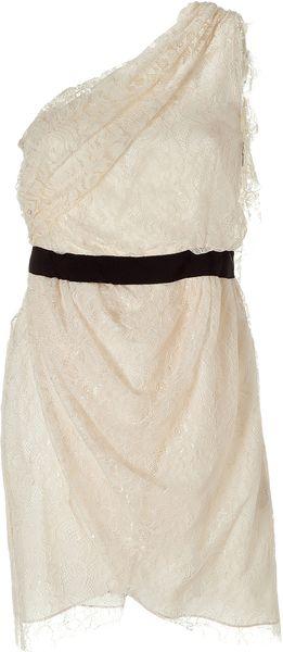 By Malene Birger Cream Lacenia Lace Dress - Lyst