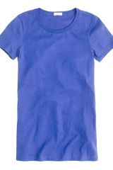 J.crew Tissue Crewneck Tee in Blue (bright cobalt) - Lyst