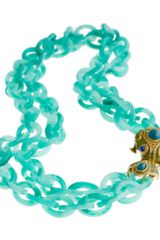 J.Crew Double-strand Resin Link Frog Necklace