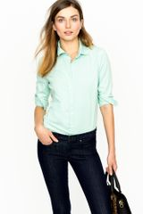 J.Crew Three-quarter Sleeve Stretch Perfect Shirt