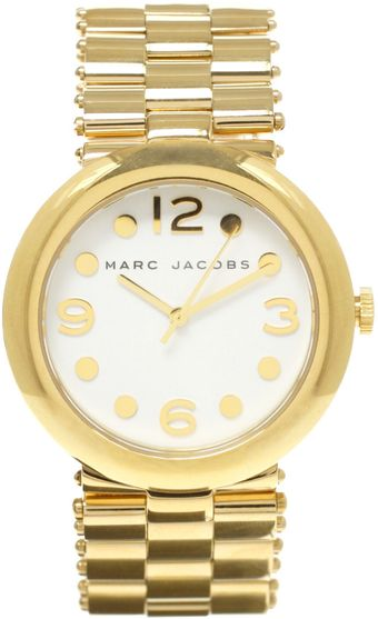 Marc By Marc Jacobs Gold Bracelet Watch - Lyst