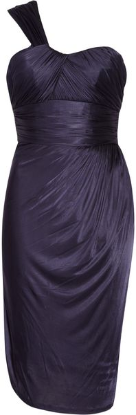 Matthew Williamson Draped Satin-jersey Dress - Lyst