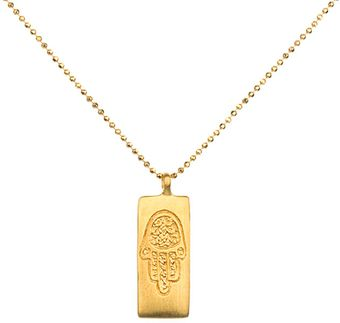 Satya Jewelry Gold Hamsa Pendant Necklace - Lyst