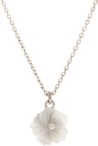 Swarovski Orelia Mop Flower Short Pendant Necklace - Lyst