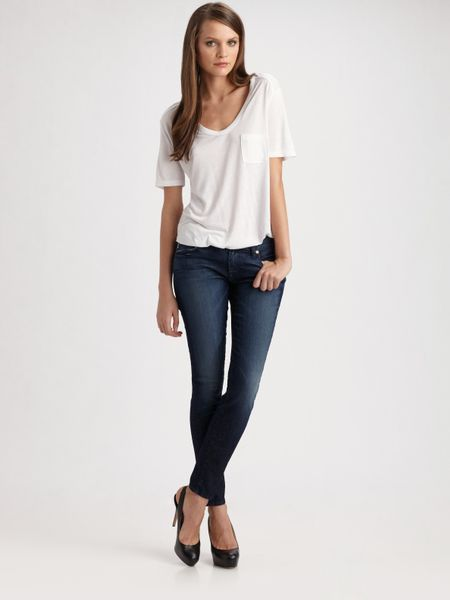 7 For All Mankind The Skinny Jeans in Blue (black) - Lyst