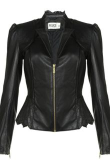 Alice By Temperley Libre Cropped Leather Jacket - Lyst