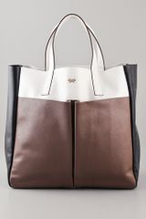 Anya Hindmarch Nevis Tri Color Leather Tote - Lyst