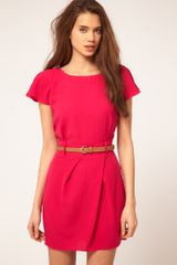ASOS Collection Asos Mini Tulip Dress with Flute Sleeves - Lyst