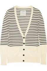 Aubin & Wills Bathgate Striped Fine-Knit Merino Wool Cardigan - Lyst
