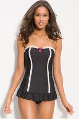 Betsey Johnson Lace Is More One Piece Swimsuit - Lyst