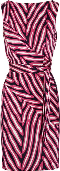 Diane Von Furstenberg Printed SilkJersey Wrap Dress in Purple (fuchsia) - Lyst