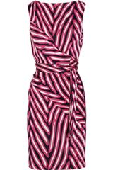 Diane Von Furstenberg Printed Silk-Jersey Wrap Dress - Lyst