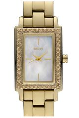 DKNY Glitz Small Rectangular Bracelet Watch - Lyst