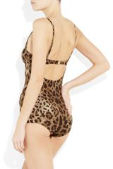 Dolce & Gabbana Leopardprint Swimsuit in Animal (leopard) - Lyst