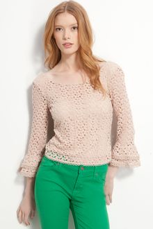 Free People Crochet Lace Top - Lyst
